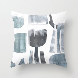 Divided Nature Throw Pillow