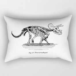 Figure Two: Triceratops Rectangular Pillow