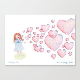 Sending Love Canvas Print