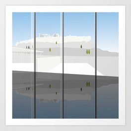 A Day at the Acropolis Museum of Athens Greece Art Print