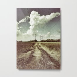 Towers and Grass Metal Print