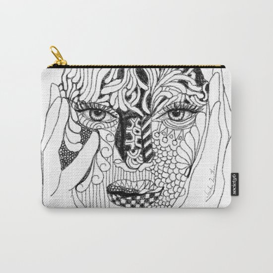 Her Love Mask Carry-All Pouch