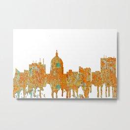 Boise, Idaho Skyline - Rust Metal Print