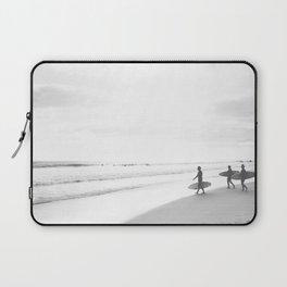 BW Surfer, Ocean Surf, California Dream, Beach Decor, Wave Surfers, Ocean Shore Laptop Sleeve