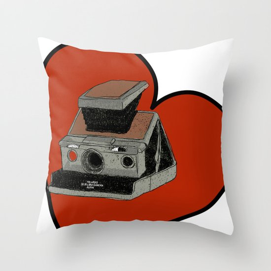 POLAROID SX70 Throw Pillow
