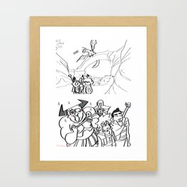 Dragon Encounter Framed Art Print