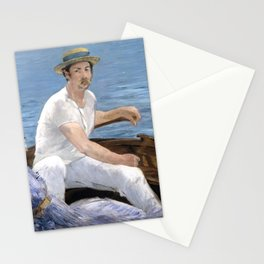 """Édouard Manet """"Boating"""" Stationery Cards"""