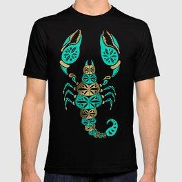 Scorpion – Turquoise & Gold T-shirt