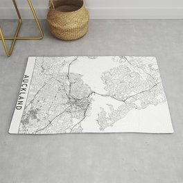 Auckland White Map Rug