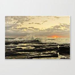 Sun Rise the golden light  Canvas Print