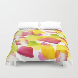 180719 Koh-I-Noor Watercolour Abstract 34  Watercolor Brush Strokes Duvet Cover