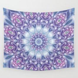 Blue, Purple, and Pink Mandala Wall Tapestry