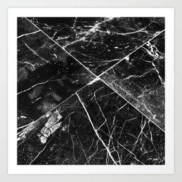 Black Granite Tiles Art Print