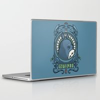 hallion Laptop & iPad Skins featuring Forest Spirit Nouveau by Karen Hallion Illustrations