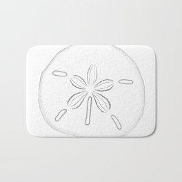 Sand Dollar Blessings - Black on White Pointilism Art Bath Mat