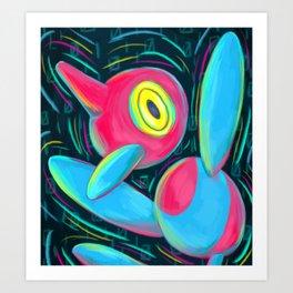 Porygon Z Art Print