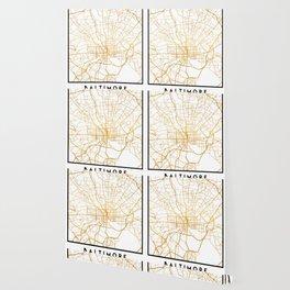 BALTIMORE MARYLAND CITY STREET MAP ART Wallpaper