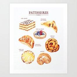 Parisian Pastry Art Print