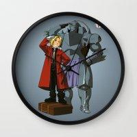 fullmetal alchemist Wall Clocks featuring Alchemist of Steel by CromMorc