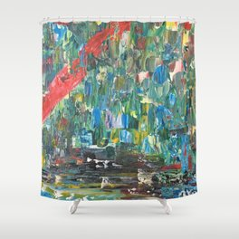 Feu de forêt Shower Curtain