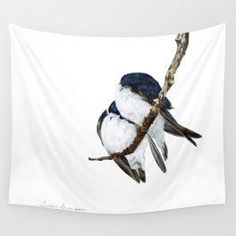 Togetherness - Tree Swallows by Teresa Thompson Wall Tapestry