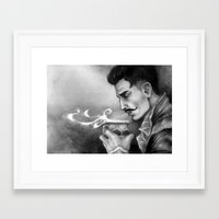 "dragon age inquisition Framed Art Prints featuring Dragon Age Inquisition - Dorian Pavus - Morning tea by Barbara ""Yuhime"" Wyrowińska"
