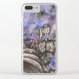 The Silent Howl Clear iPhone Case