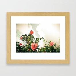 Grammy's Flowers Framed Art Print
