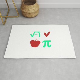 Funny Thanksgiving Math I Love Apple Pi or Pie Day Equation Rug