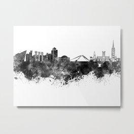 Coventry skyline in black watercolor Metal Print