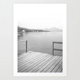 Pier Scene Art Print