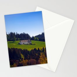A farm, blue sky and some panorama | landscape photography Stationery Cards