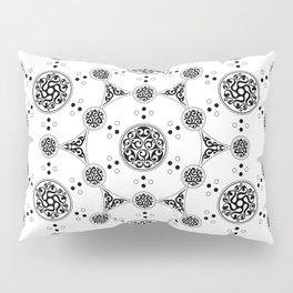 molecule. alien crop circle. flower of life and celtic patterns Pillow Sham