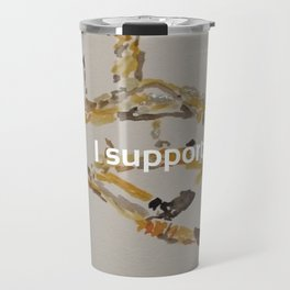 I Support Artists Notebook and Travel Mug Travel Mug