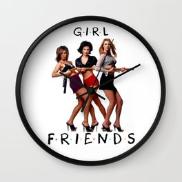 Rachel. Monica. Phoebe. Wall Clock