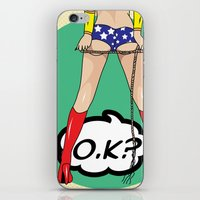 comics iPhone & iPod Skins featuring COMICS by mark ashkenazi