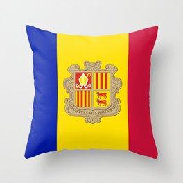 Andorra Flag Throw Pillow