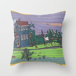 Saskatchewan Heritage House Throw Pillow