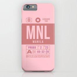 Baggage Tag B - MNL Manila Philippines iPhone Case