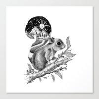 squirrel Canvas Prints featuring SQUIRREL by Thiago Bianchini