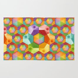 Rainbow Hexagons Rug