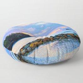 An Evening Glow Floor Pillow