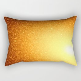 Golden Sun Stars Rectangular Pillow