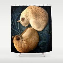 ying and jang Shower Curtain