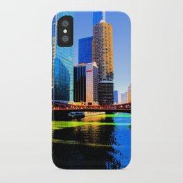 Clark St. Bridge, Chicago (Pop) iPhone Case