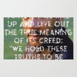 I have a dream - Martin Luther King Junior Wall Art Portrait, Speech, Home Decor, Dorm Decor Rug