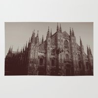 milan Area & Throw Rugs featuring Milan Duomo, Milan by Albert Tjandra