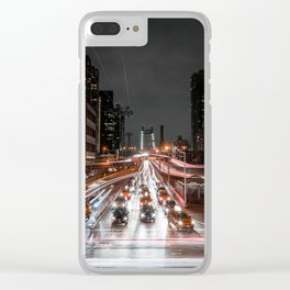 Taxi Trails Clear iPhone Case