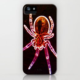 neon red spider iPhone Case