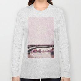Pink mood at Triana Bridge Long Sleeve T-shirt